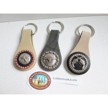 Concho Leather Key Chain