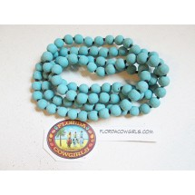 Turquoise Short Knotted Gemstone Necklace