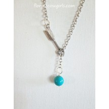 Turquoise Arrow Drop Necklace