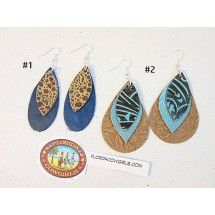 Leather Large Layered Earrings