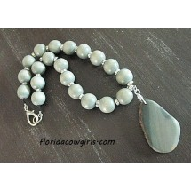 Wood Agate Statement Necklace