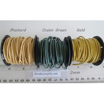 Leather Cord 2mm Round, Sold by the Foot, #2mm-1