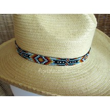 Beaded 7 Row Stretch Hat Band - Headband B1-K