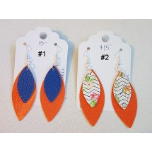 Faux Leather Earrings - Choose Your Pair