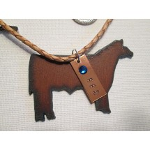 Show Steer FFA Rustic Guardian Angel Necklace