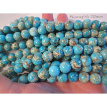 Sea Sediment Jasper Round Beads - Choose Your Color