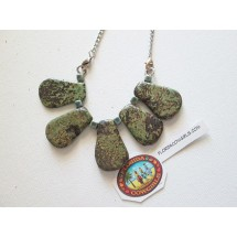 Green Rustic Bib Necklace