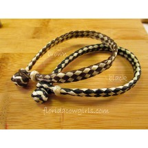 Leather Rawhide with Knot Bracelet hh85-4