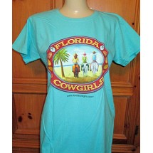 Florida Cowgirls Ladies Fashion Tee Shirt - Lagoon
