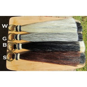 Horsehair Shufly Double Mule Tassel Hitched Knot and Brass Ring