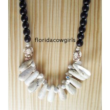 White Turtle Beaded Necklace