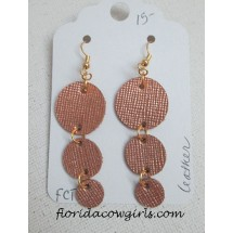 Leather Earrings - Circles