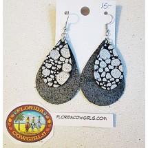 Leather Earrings Large Teardrop