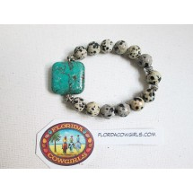 Jasper & Turquoise Stretch Roll On Bracelet
