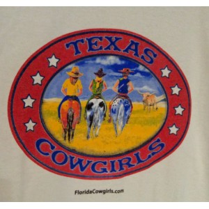 Texas Cowgirls Logo Tee Shirt