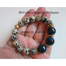 Jasper Stretch Roll On Bracelet