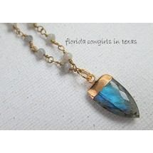 Blue Flash Labradorite Necklace