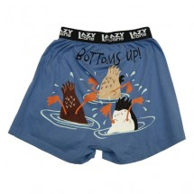 Adult Unisex Comical Boxer Shorts Bottoms Up