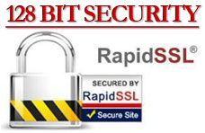 Site secured with 128 Bit Encryption